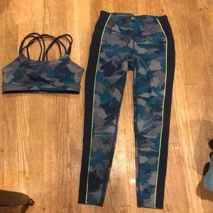 Gap Fit leggings and bra